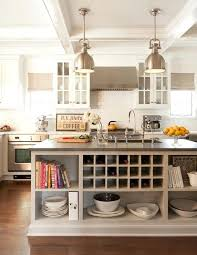 interiors kitchens light taupe kitchen island with open shelving shelves w and seating