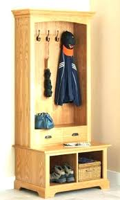 hall tree entry bench coat rack racks enclosed storage furniture entryway wood