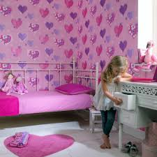 Purple Flower Wallpaper For Bedroom Arthouse Happy Hearts Flowers Luxury Girls Childrens Kids Bedroom
