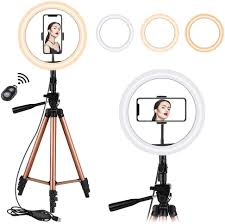 Ring Light Tripod For Iphone 10 2 Selfie Ring Light With Tripod Stand Eocean 50in Tripod For Youtube Stream Makeup Mini Led Camera Ringlight For Vlog Video Photography