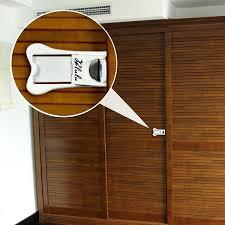 baby proof door latch baby safety sliding door lock with tape for closet and window child baby proof door latch