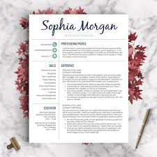 Etsy Resume Template Fascinating Creative Resume Template Resume For Word And Pages 288 28 Etsy