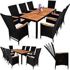 dining chair clipart. poly rattan garden furniture table and chair set 8 seater outdoor dining acacia wood top - inclinable backrest 7 cm seat cushion clipart