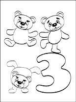 Small Picture Number 3 Three coloring page Coloring pages