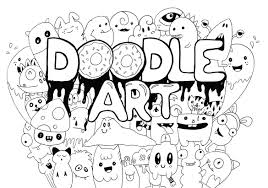 Small Picture Best Doodle Art Contemporary New Printable Coloring Pages
