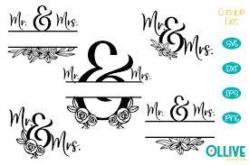 Sign up & get the secret password sent to your inbox! Wedding Mr Mrs Split Monogram Svg Bundle 802298 Cut Files Design Bundles
