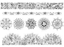 ベクトル イラスト飾り落書きフレーム花のデッサンします春夏開花観賞用のパターンですア