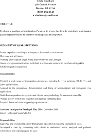 Download Immigration Paralegal Resume For Free Formtemplate
