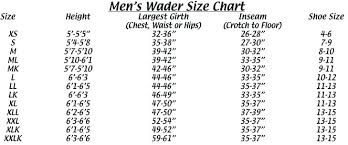 Lacrosse Waders Size Chart Chest Waders Size 15 Denah Co