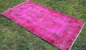 diy overdyed rug pink rugs vintage area home ideas easy