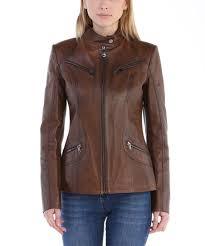 Sir Raymond Tailor Chestnut Tab Collar Leather Jacket Plus Too