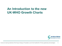 New Who Growth Chart An Introduction To The New Uk Who Growth Charts Ppt Video
