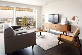 midcentury rug area