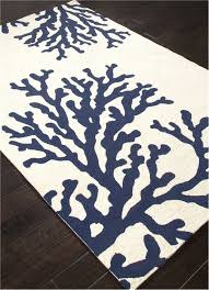 c branch out area rug navy blue and white beach decor
