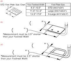 Wheelchair Size Chart Product Option Help