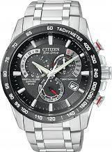 "citizen watches men s ladies eco drive watch shop comâ""¢ mens citizen chrono perpetual a t alarm chronograph radio controlled eco drive watch at4008 51e"