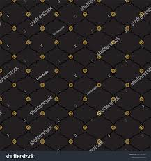 Seamless Black Gold Fancy Background Pattern Stock Vector Royalty