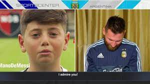 Lionel Messi gets messages from young Argentine fans   SportsCenter