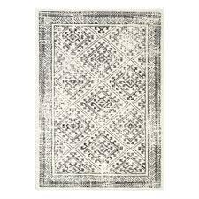 kalora palace cream grey distressed diamond area rug