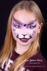 cat face paint exclude the bottom lip paint for another look