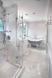 Bathroom Classic Bathroom Design Tiling Is Honed Carrara Marble Simple Carrara Marble Bathroom Designs