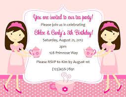 Kids Tea Party Invitation Wording Tea Party Invitation Wording Ideas Nemetas Aufgegabelt Info