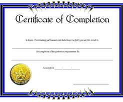 sample certificates of completion certificate of completion of training template free certificate of