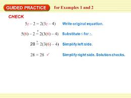 28 28 write original equation substitute 6 for z