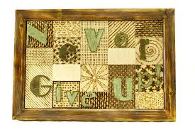 wooden wall art never give up home decor wood sign wallart
