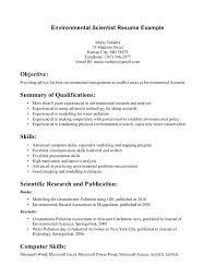 Environmental Resume Template Environmental Services Resumes Service