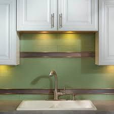aspect 6 in x 3 in fresh sage glass decorative wall tile 8