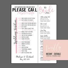 Wedding Timeline Interesting Editable Wedding Timeline Call Anyone Except The Bride Etsy