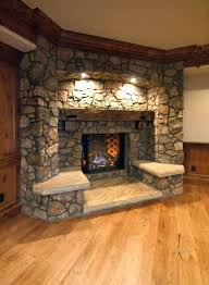 corner fireplace ideas in stone cool remodel home interior 17