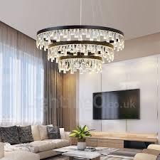 modern circle design crystal pendant lights living room bedroom dining room