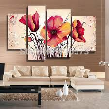 hand painted large canvas art cheap modern wall art decorative flower pictures 4 piece canvas painting on wall art pieces decorating with hand painted large canvas art cheap modern wall art decorative