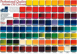 Art Spectrum Colour Chart Art Spectrums Australian Oil Colour Chart With Over 100