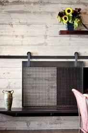 image result for magnetic fireplace screen livingroom