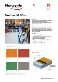 Flowcrete Color Chart Flowfresh Esd Mf Flowcrete Uk Pdf Catalogs