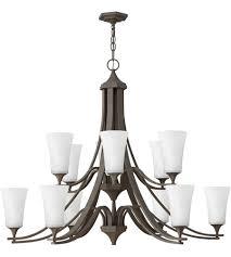 hinkley 4639oz wh brantley 12 light 43 inch oil rubbed bronze foyer chandelier ceiling light