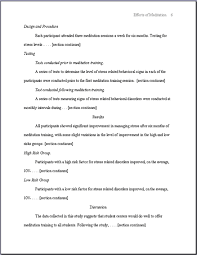 Table Of Contents Apa Apa Style Sample Papers 6th And 5th Edition