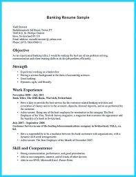 Bank Teller Resume Description Nice Learning To Write From A Concise
