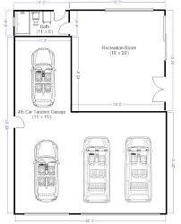 Best 25 3 Car Garage Plans Ideas On Pinterest  3 Car Garage 4 Car Garage Size