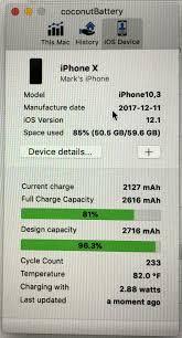 Battery Design Capacity Vs Full Charge Capacity Xs Battery Capacity Already At 97 Macrumors Forums