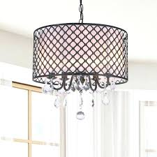 crystal chandelier with black drum shade eimatco regarding new household black drum chandelier with crystals decor