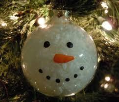 glass snowman ornament craft idea
