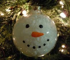 how to make a glass ball snowman ornament