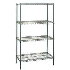 food safe green wire shelving unit 4 shelves 36 x 18 x 63