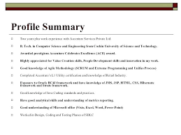 Resume Profile Summary Samples – Francistan Template