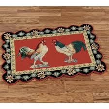 endorsed rooster rugs for the kitchen amazing washable rug sets