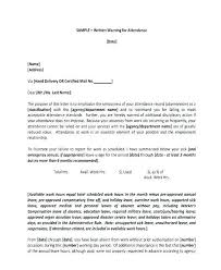 Written Warning Samples Excessive Absenteeism Write Up Letter